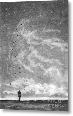 Let It Go Metal Print by J Ferwerda