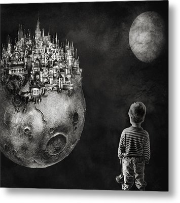 Let Your Dreams Be Bigger Than Your Fears Metal Print