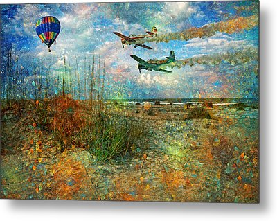 Let's Fly Metal Print by Betsy Knapp