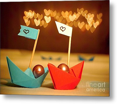 Lets Sail Through Life Together Metal Print