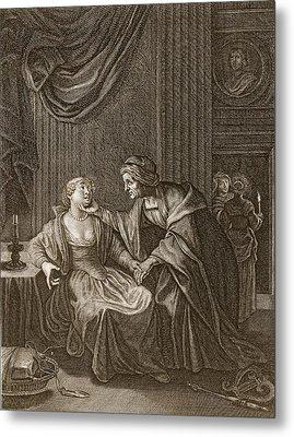 Leucothoe Seduced By Apollo Metal Print by Bernard Picart