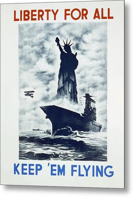 Metal Print featuring the photograph Liberty For All by american Classic Art