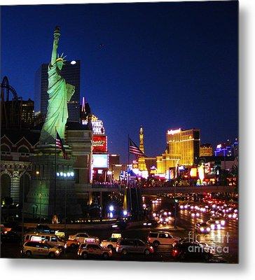 Liberty In Vegas Metal Print by John Malone