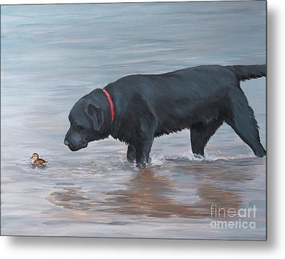 Life Guard Metal Print by Charlotte Yealey