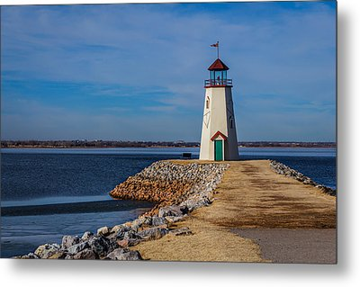 Lighthouse At East Wharf Metal Print
