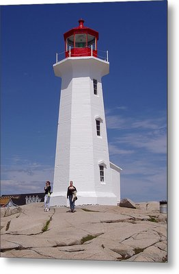 Lighthouse At Peggy's Cove Metal Print by Brenda Anne Foskett