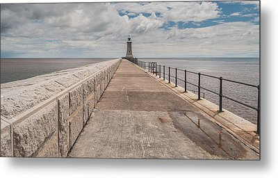 Lighthouse In North Shields Metal Print by Sergey Simanovsky