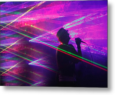 Lighting Up The Stage Metal Print by James Hammen