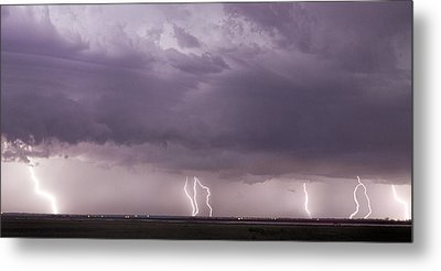 Metal Print featuring the photograph Lightning Storm by Rob Graham
