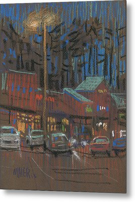 Lights Come On Metal Print by Donald Maier