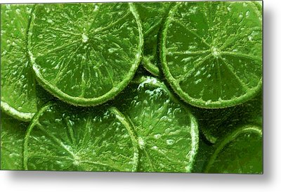 Metal Print featuring the digital art Limes by David Blank