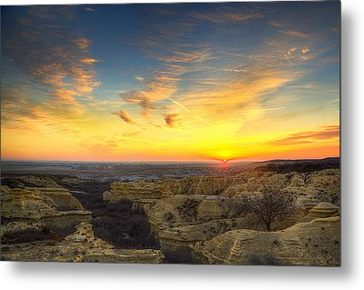 Limestone Sunrise Metal Print by Thomas Zimmerman