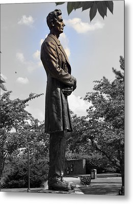 Lincoln At Lytle Park Metal Print by Kathy Barney