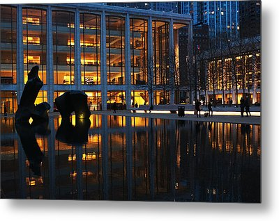 Lincoln Center Gold Metal Print