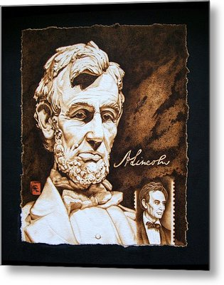 Lincoln Memorial And The Younger Metal Print by Cynthia Adams