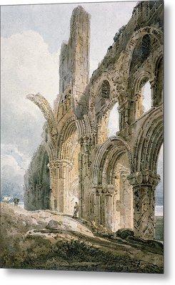 Lindisfarne Abbey Metal Print by Thomas Girtin