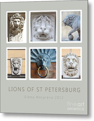 Lions Of St Petersburg Metal Print by Elena Nosyreva