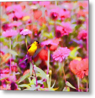 Little Birdie In The Spring Metal Print by Bill Cannon