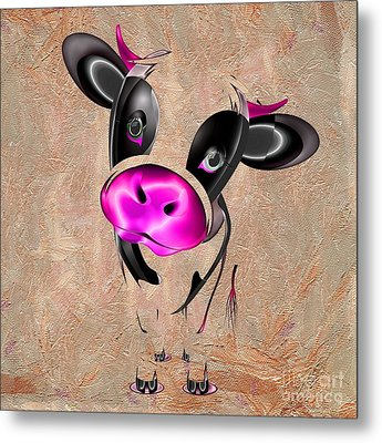 Little Cow Metal Print