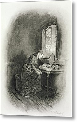 Little Dorrit, From Charles Dickens A Metal Print by Frederick Barnard