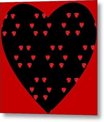 Little Kaleidoscope Hearts Metal Print by Pete Trenholm