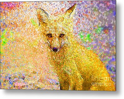 Little Red Fox Metal Print by Claire Bull