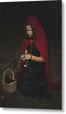 Little Red Riding Hood Metal Print by Cherie Haines