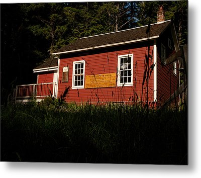 Little Red Metal Print by Wendy A Rosier