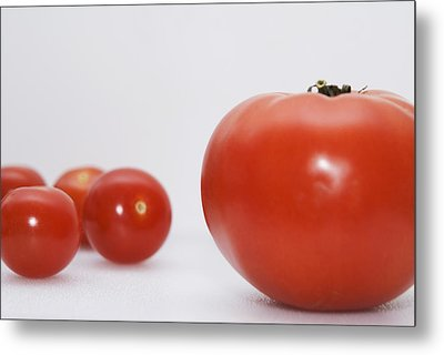 Little Tomatoes And One Big Tomato Metal Print by Marlene Ford