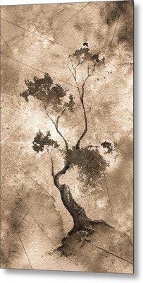 Little Zen Tree 873 Altered Metal Print by Sean Seal