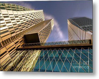 Lofty Heights - Cracked Shapes Metal Print by Juergen Schonnop