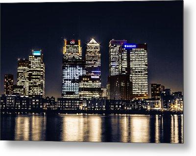 London Skyline At Night Metal Print