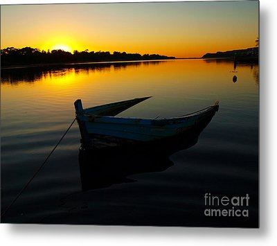 Metal Print featuring the photograph Lonely At Sunrise by Trena Mara