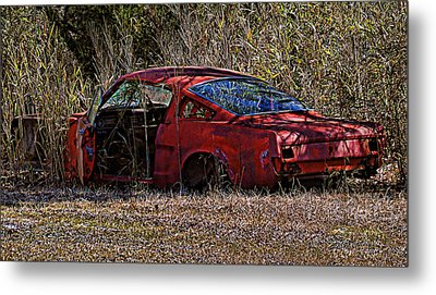 Metal Print featuring the photograph Lonely Fastback by Victor Montgomery