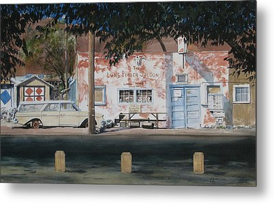 Long Branch Saloon Luning Nevada Metal Print by Richard Eaves Woods
