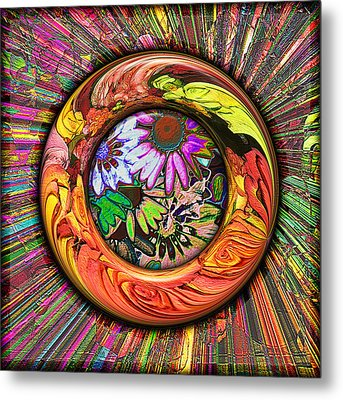 Look Through Any Window Metal Print by Wendy J St Christopher