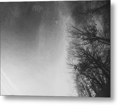 Looking Up At The Sky While Driving Metal Print by J Riley Johnson