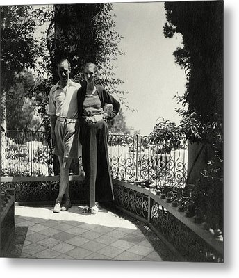 Lord And Lady Brownlow In Tunisia Metal Print by John McMullin
