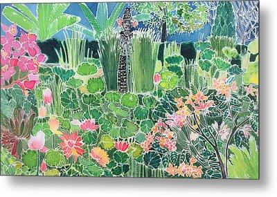 Lotus Pond Ubud Bali Metal Print