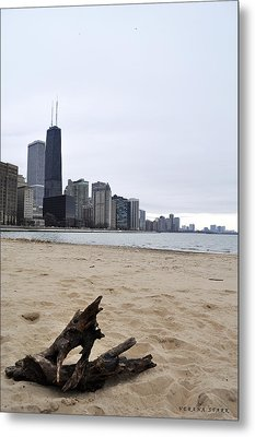 Love Chicago Metal Print