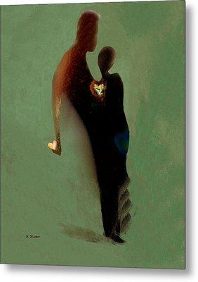 Metal Print featuring the digital art Love by Haleh Mahbod