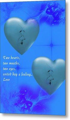 Metal Print featuring the digital art Love On Valentine's Day by Angel Jesus De la Fuente