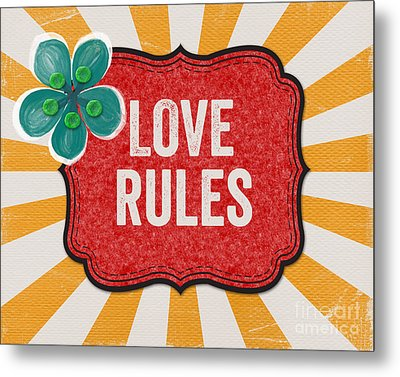 Love Rules Metal Print