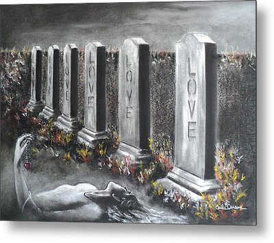 Metal Print featuring the drawing Loves Silent Echoes by Carla Carson