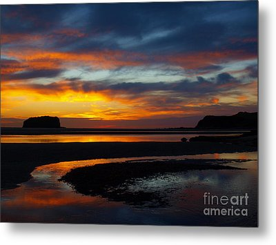 Metal Print featuring the photograph Low Tide At Sunrise by Trena Mara