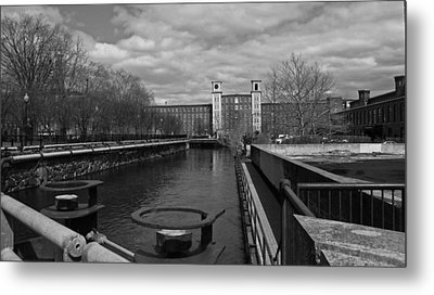 Lowell Ma Architecture Bw Metal Print