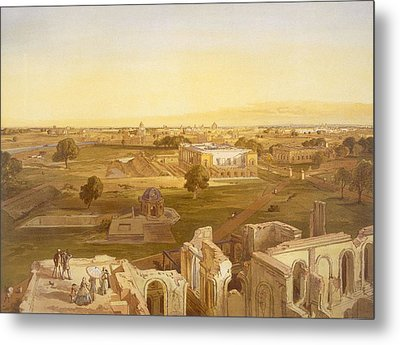Lucknow, From India Ancient And Modern Metal Print by William 'Crimea' Simpson
