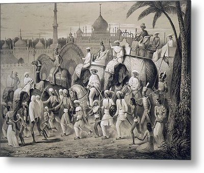 Lucknow, The Principal Street Metal Print