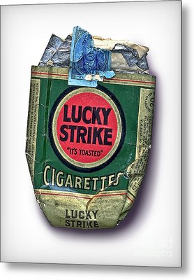 1940's Lucky Strike Green Metal Print by Walt Foegelle