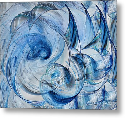Luminance Washed In Blue Metal Print